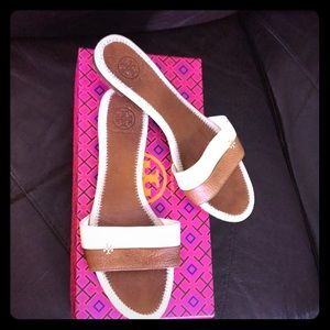 Tory Burch flat leather slides